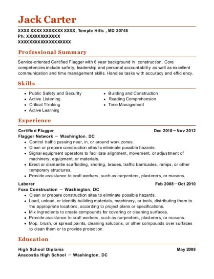 best certified flagger resumes resumehelp