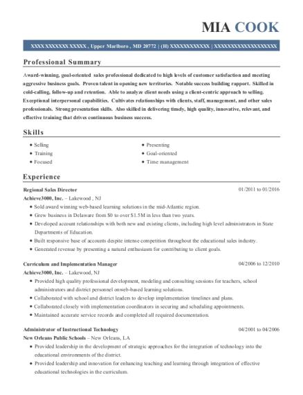 Best Administrator Of Instructional Technology Resumes Resumehelp