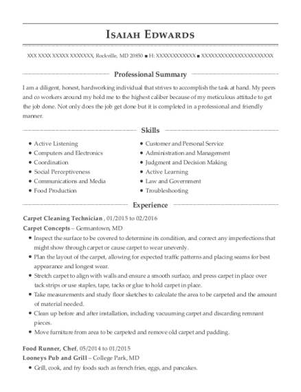 Carpet Cleaning Technician , Imprint Specialist. Customize Resume · View  Resume