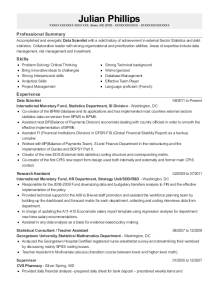View Resume. Data Scientist  Data Scientist Resume