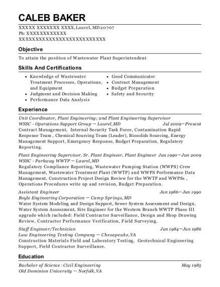 Best Plant Engineering Resumes | ResumeHelp
