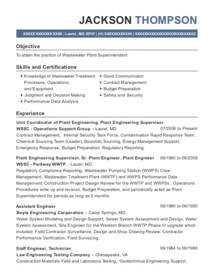 Best Unit Coordinator Of Plant Engineering Resumes   ResumeHelp