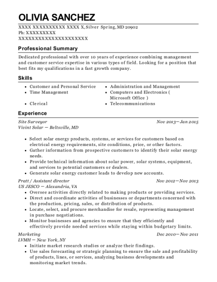 Best Site Surveyor Resumes   ResumeHelp