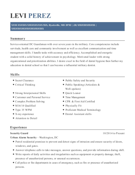 dental specialist resume