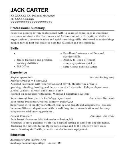 view resume - Sample Resume Hospital Transporter
