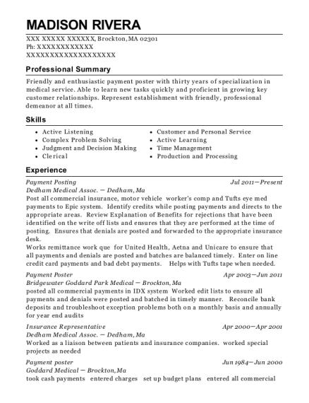 best payment posting resumes resumehelp