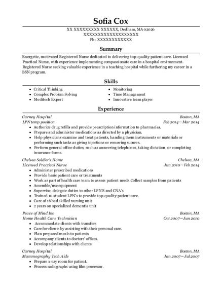 Best Licensed Practical Nurse Resumes Resumehelp