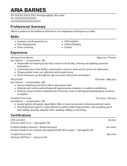 Best Admission Coordinator Resumes | ResumeHelp