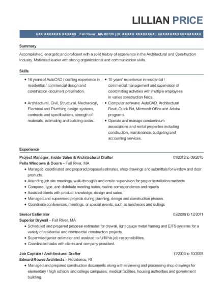 cities - Architectural Drafter Resume