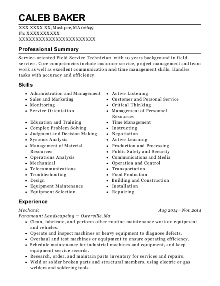 best parts counter person resumes
