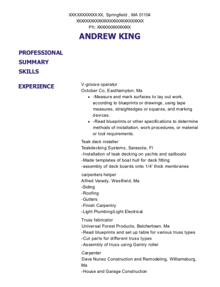 Perfect View Resume
