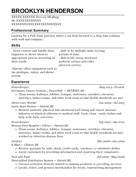 Best Direct Care Worker Resumes in Michigan | ResumeHelp