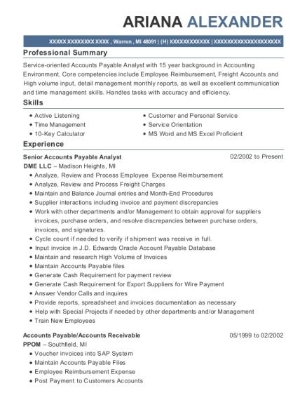 Best Senior Accounts Payable Analyst Resumes   ResumeHelp