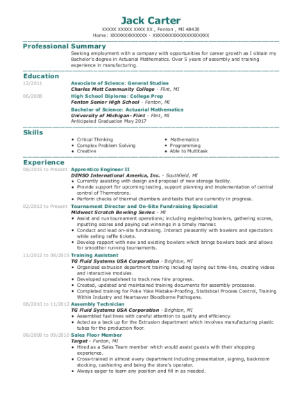 Assembly Technician , Cook. Customize Resume · View Resume