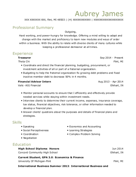 Best Financial Advisor Intern Resumes | ResumeHelp