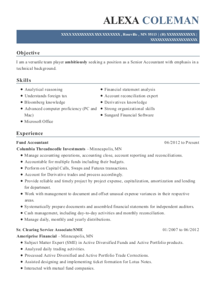 Best Fund Accountant Resumes | ResumeHelp