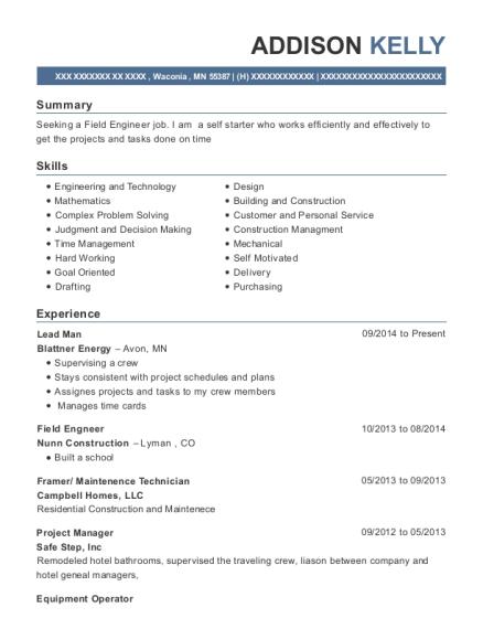 Best Field Engneer Resumes | ResumeHelp