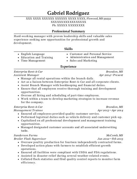 Best Broiler Flock Supervisor Resumes | ResumeHelp