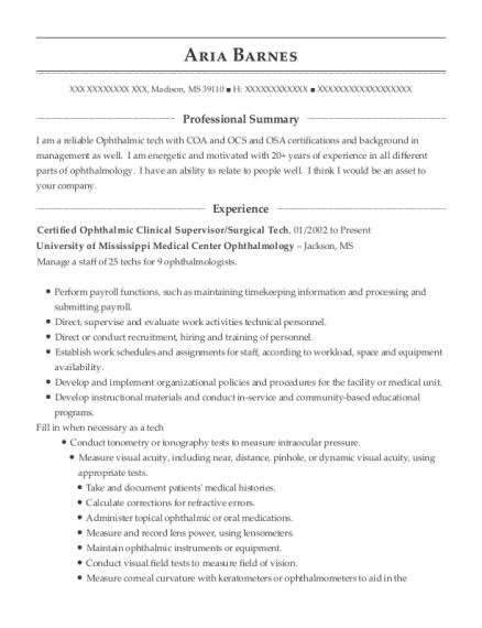 Best Certified Optometric Assistant Resumes | ResumeHelp