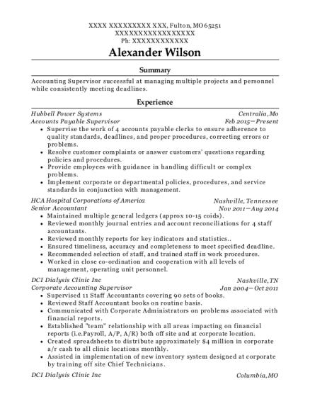 Best Accounts Payable Supervisor Resumes | ResumeHelp