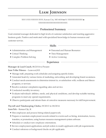 Liam Johnson  Contract Specialist Resume
