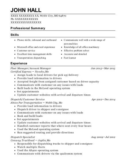 Best Fleet Manager Resumes | ResumeHelp