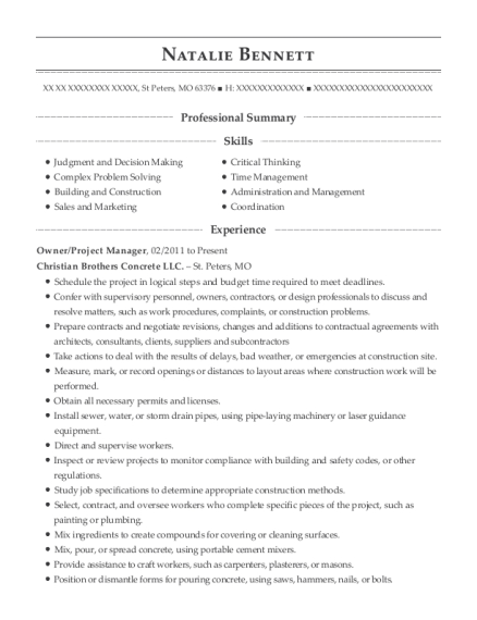Best Estimating And Project Manager Resumes | ResumeHelp