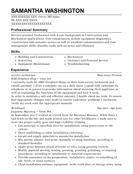 Self Employed Bricklayer Resume Sample Jenners