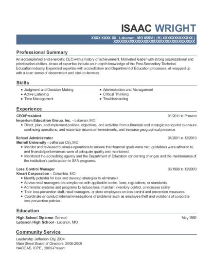 best school administrator resumes resumehelp