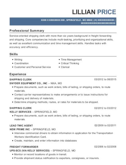 Best Freight Forwarder Resumes | ResumeHelp