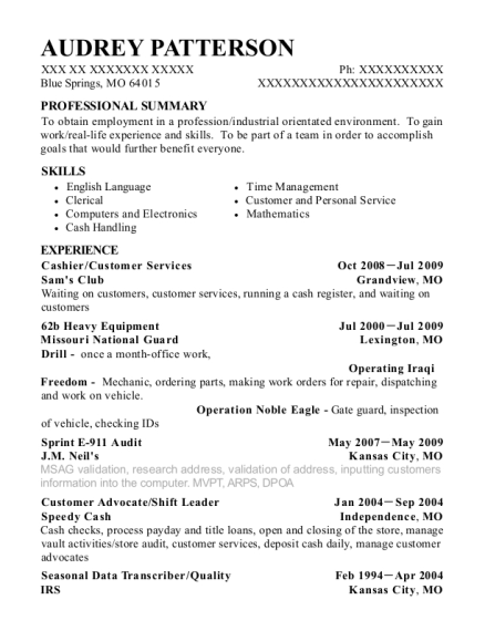 shift leader resume