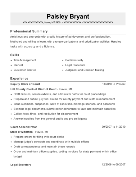 High Quality View Resume. Deputy Clerk Of Court