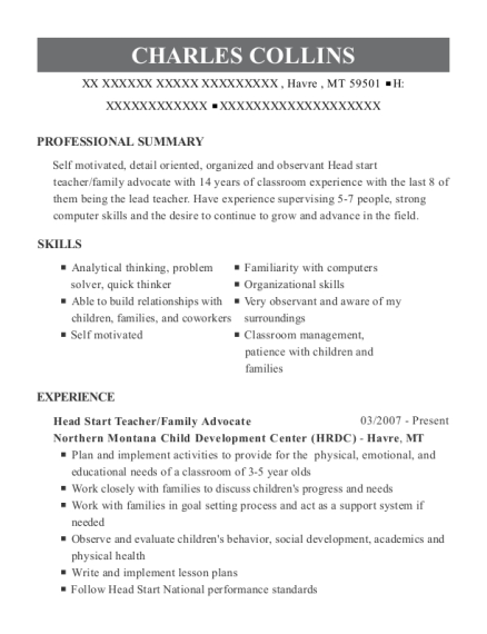 Best Head Start Teacher Assistant Resumes Resumehelp