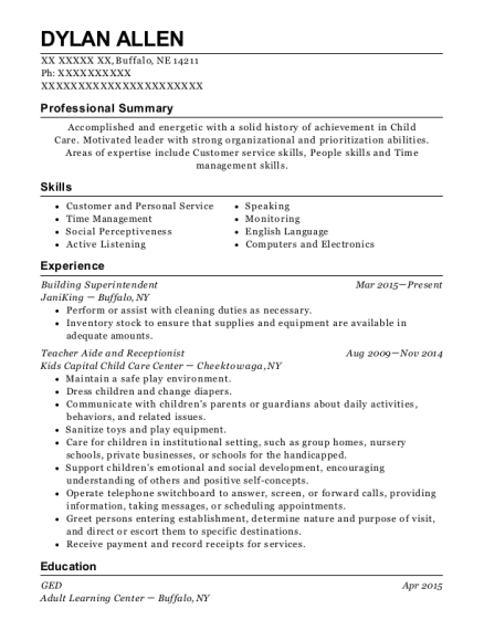 View Resume Building Superintendent