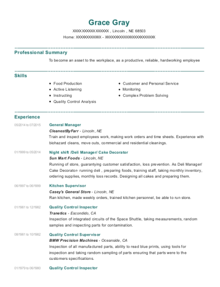 View Resume. General Manager