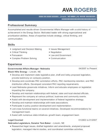 Enchanting Black Hills Energy Resume Mold - Best Resume Examples by ...