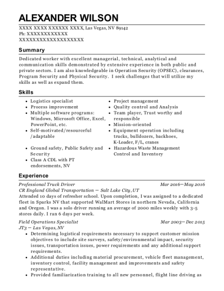 Best Field Operations Coordinator Resumes | ResumeHelp