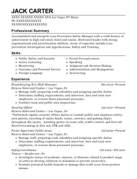 Charming Casino Management Resume Photos - Resume Ideas - bayaar.info
