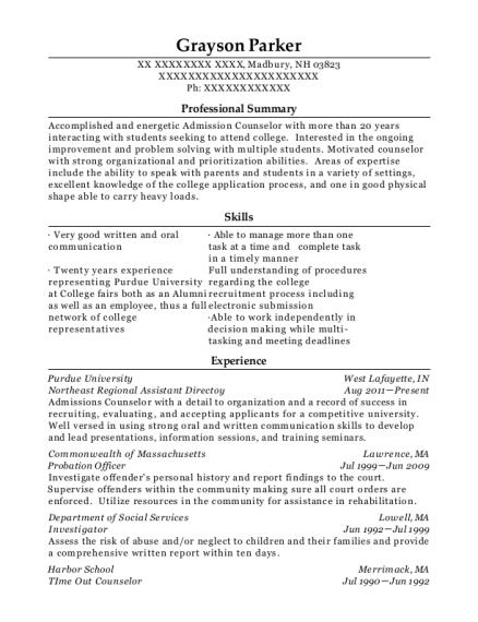 Amazing View Resume