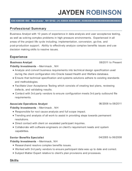 Best Associate Operations Analyst Resumes Resumehelp