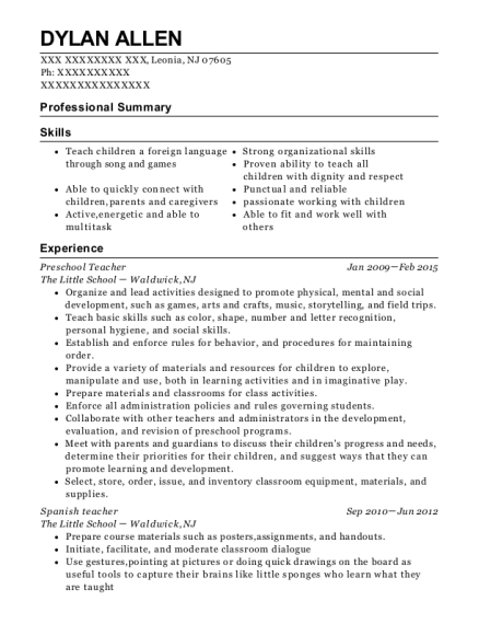 best spanish teacher resumes resumehelp