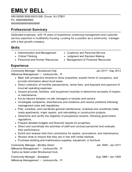 Best Assistant Community Manager Resumes | ResumeHelp
