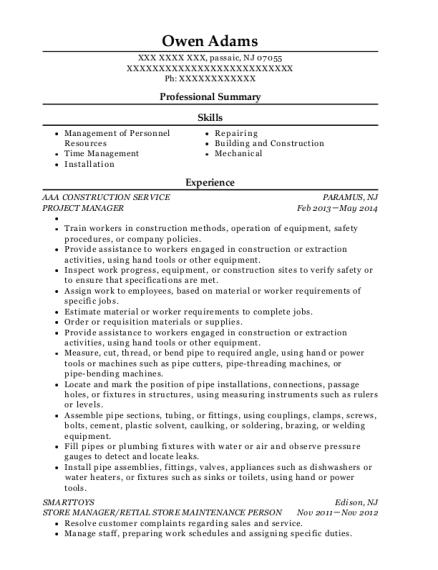 Best Building Superintendent Resumes Resumehelp