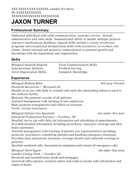 best bilingual clerk typist resumes resumehelp