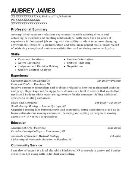 alliance data customer retention specialist resume sample columbus