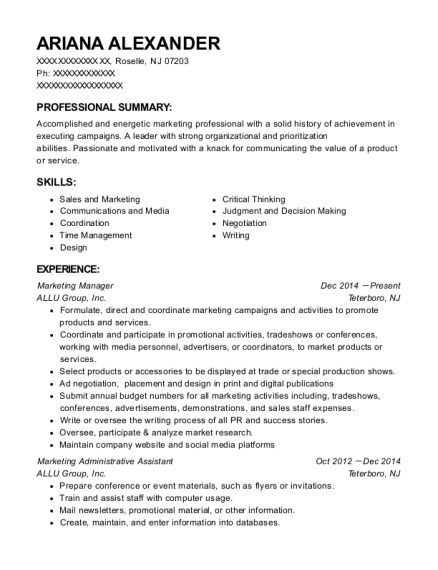 best marketing administrative assistant resumes resumehelp