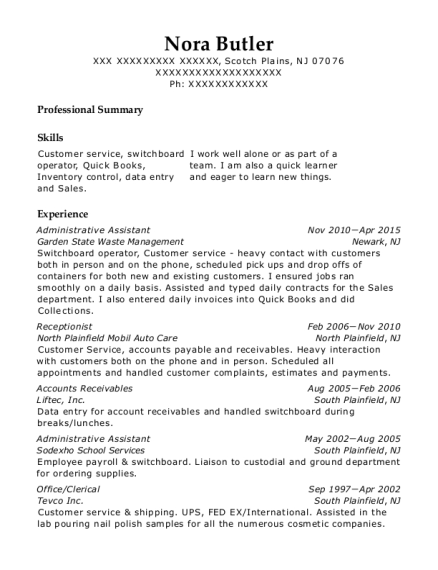 office clerical resumes