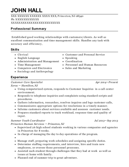 Best Summer Youth Coordinator Resumes Resumehelp