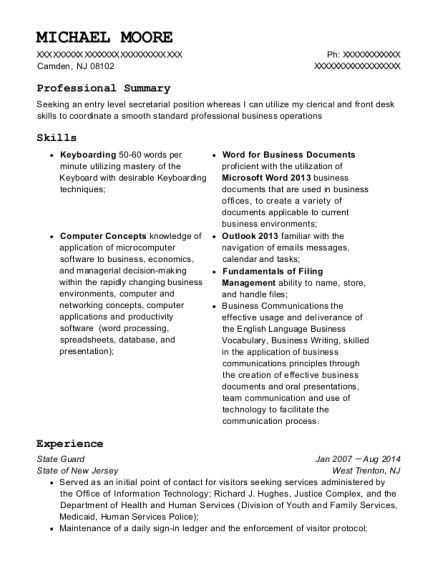 Fresh Typist Resume Clerk Samples Cover Letter Fast Audio Page
