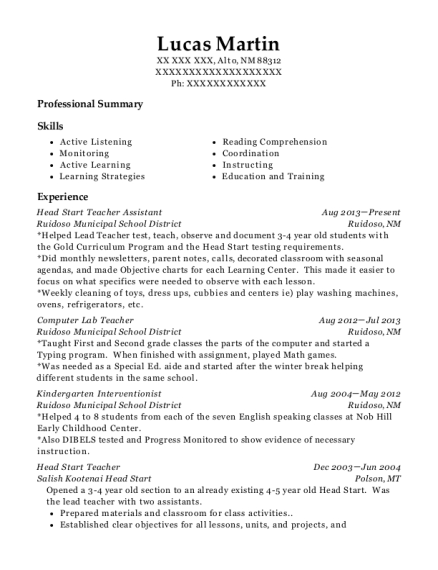 ... Preschool Teacher. Customize Resume · View Resume